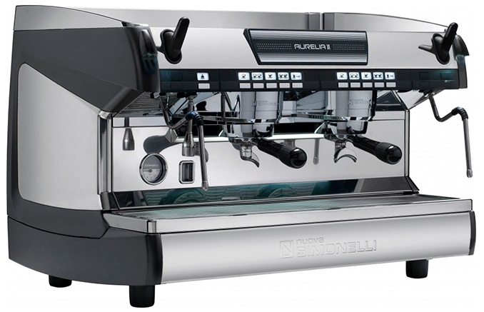 Рожковая кофемашина Nuova Simonelli Aurelia II 2Gr V 220V black+high groups+LED (140639)