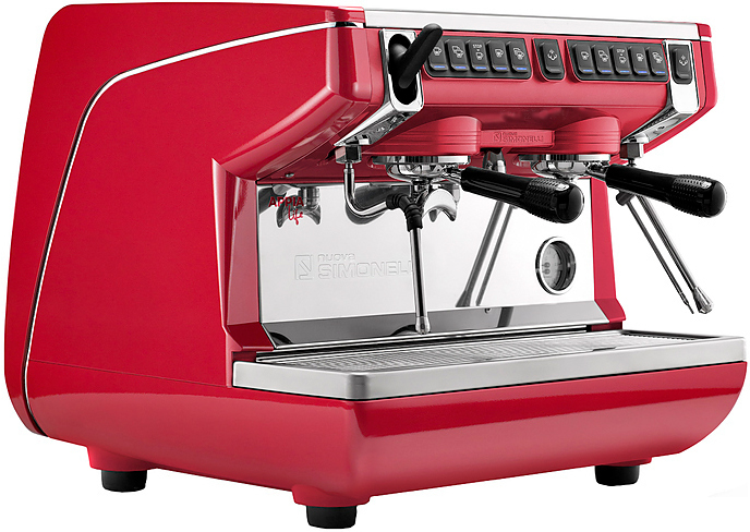 Рожковая кофемашина Nuova Simonelli Appia Life Compact 2Gr V 220V red+economizer+high groups (167632)