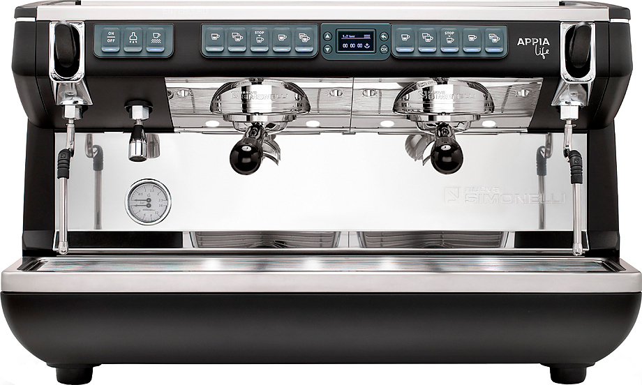 Рожковая кофемашина Nuova Simonelli Appia Life XT 2Gr V 220V black+high groups (167986)
