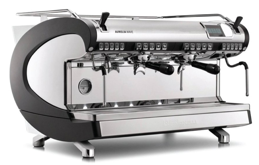 Рожковая кофемашина Nuova Simonelli Aurelia WAVE T3 2Gr 220V black+high groups+Autopurge (169720)